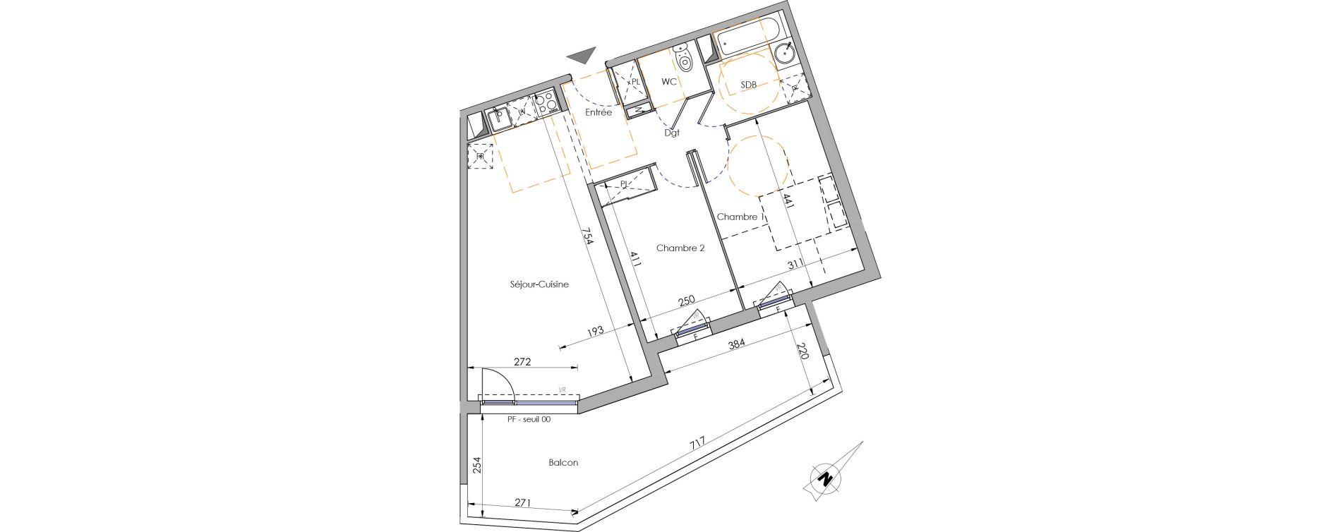 Appartement T3 de 63,55 m2 à Juvignac Centre