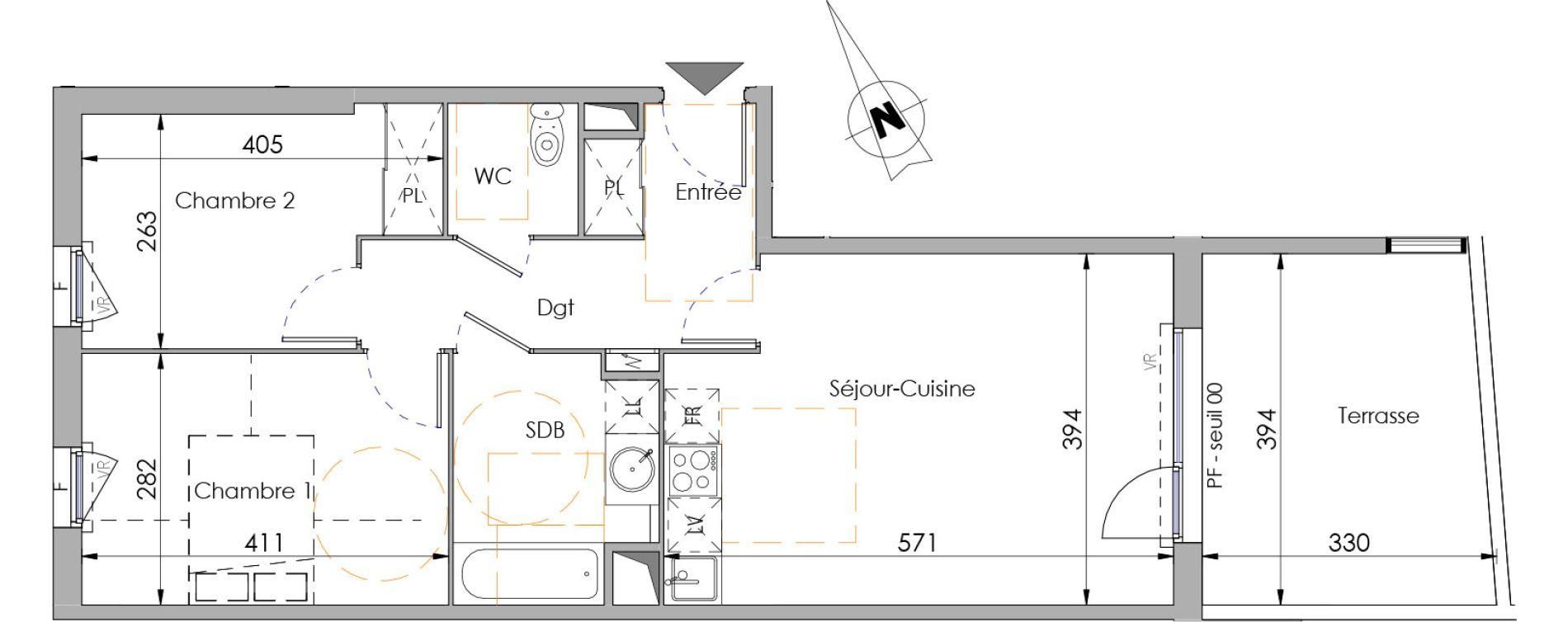 Appartement T3 de 59,42 m2 à Juvignac Centre