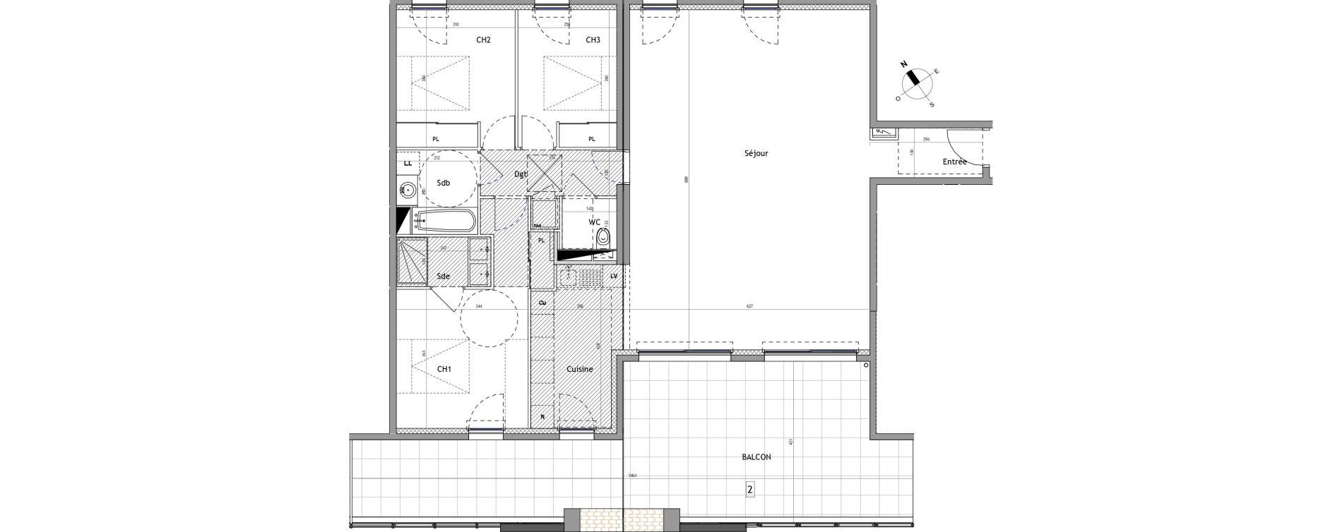 Appartement T4 de 119,90 m2 à Marseillan Centre