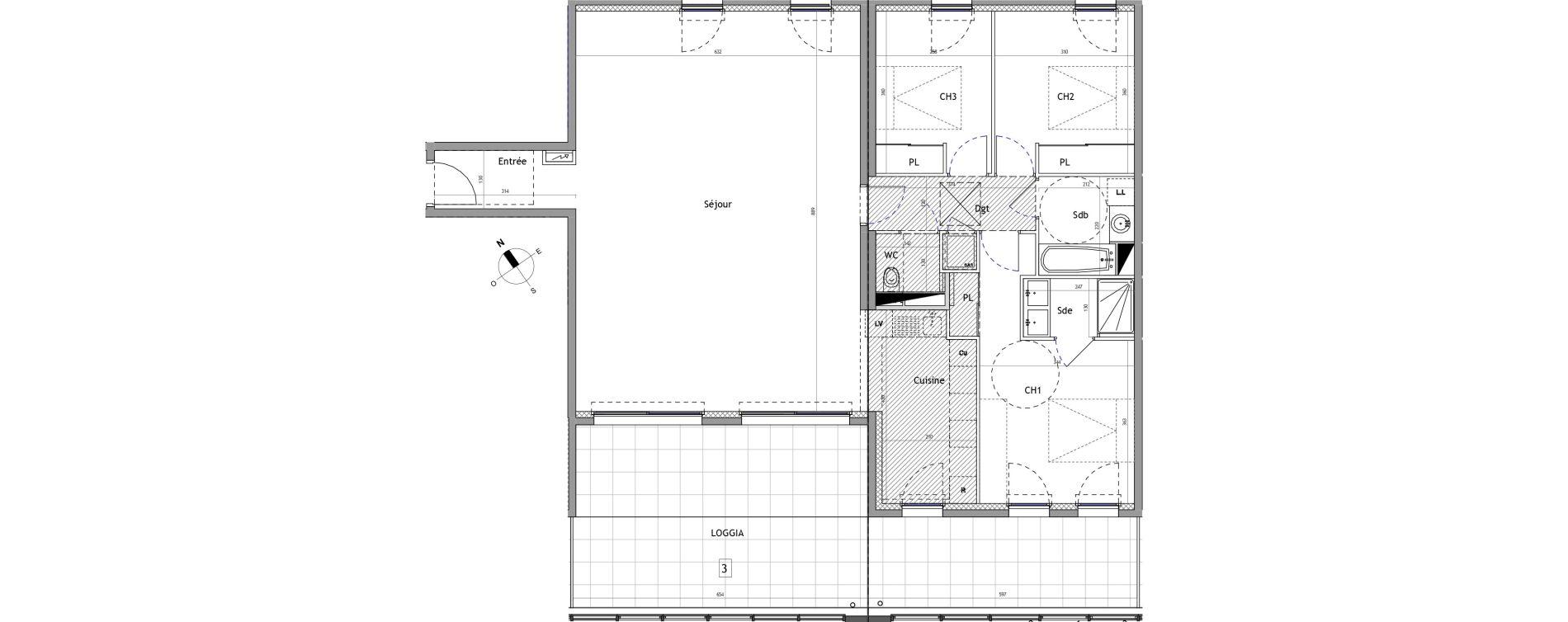Appartement T4 de 120,50 m2 à Marseillan Centre