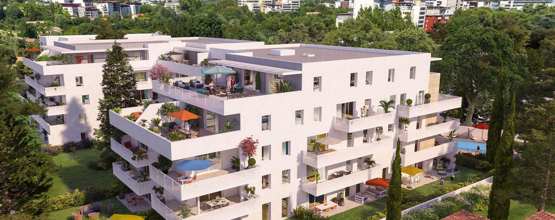 Montpellier : programme immobilier neuve « Domaine d'Antonin » en Loi Pinel (2)