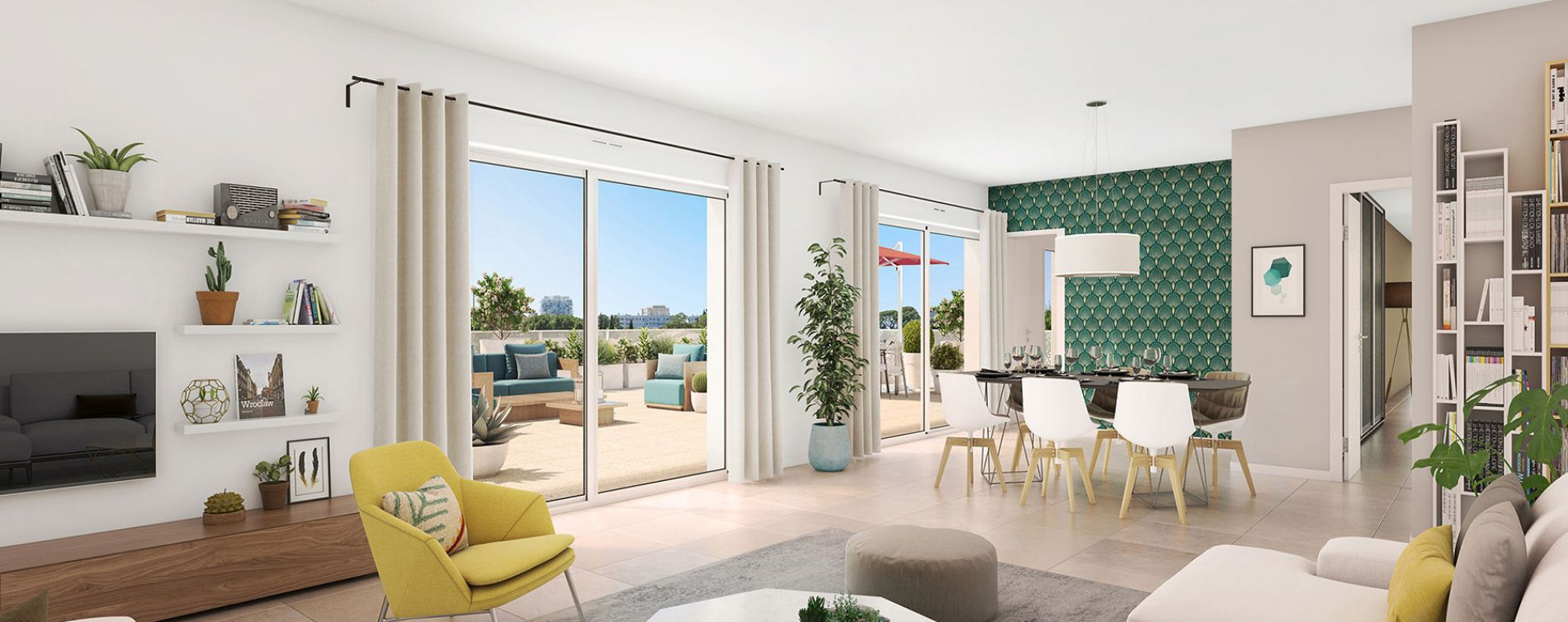 Montpellier : programme immobilier neuve « Domaine d'Antonin » en Loi Pinel (4)