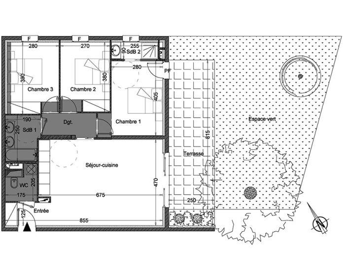 Appartement t4 montpellier n 301 sud est for Achat maison montpellier