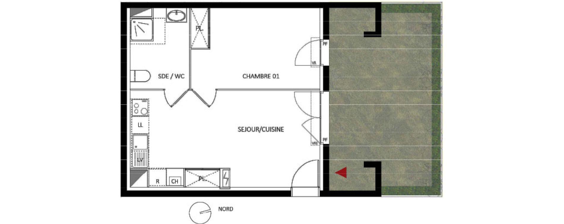 Appartement T2 de 39,00 m2 à Montpellier Les grezes