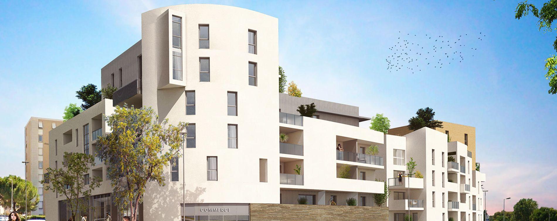 Montpellier : programme immobilier neuve « Urban Essence - Bât. A » en Loi Pinel