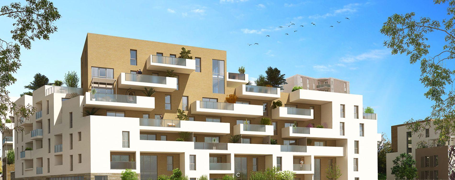 Montpellier : programme immobilier neuve « Urban Essence - Bât. B/C » en Loi Pinel