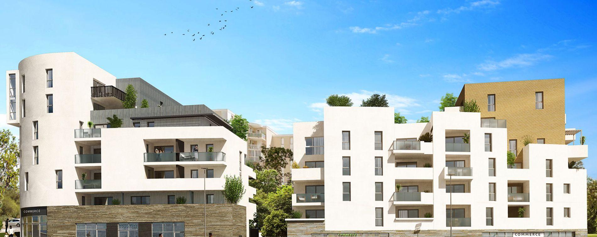 Montpellier : programme immobilier neuve « Urban Essence - Bât. B/C » en Loi Pinel (2)