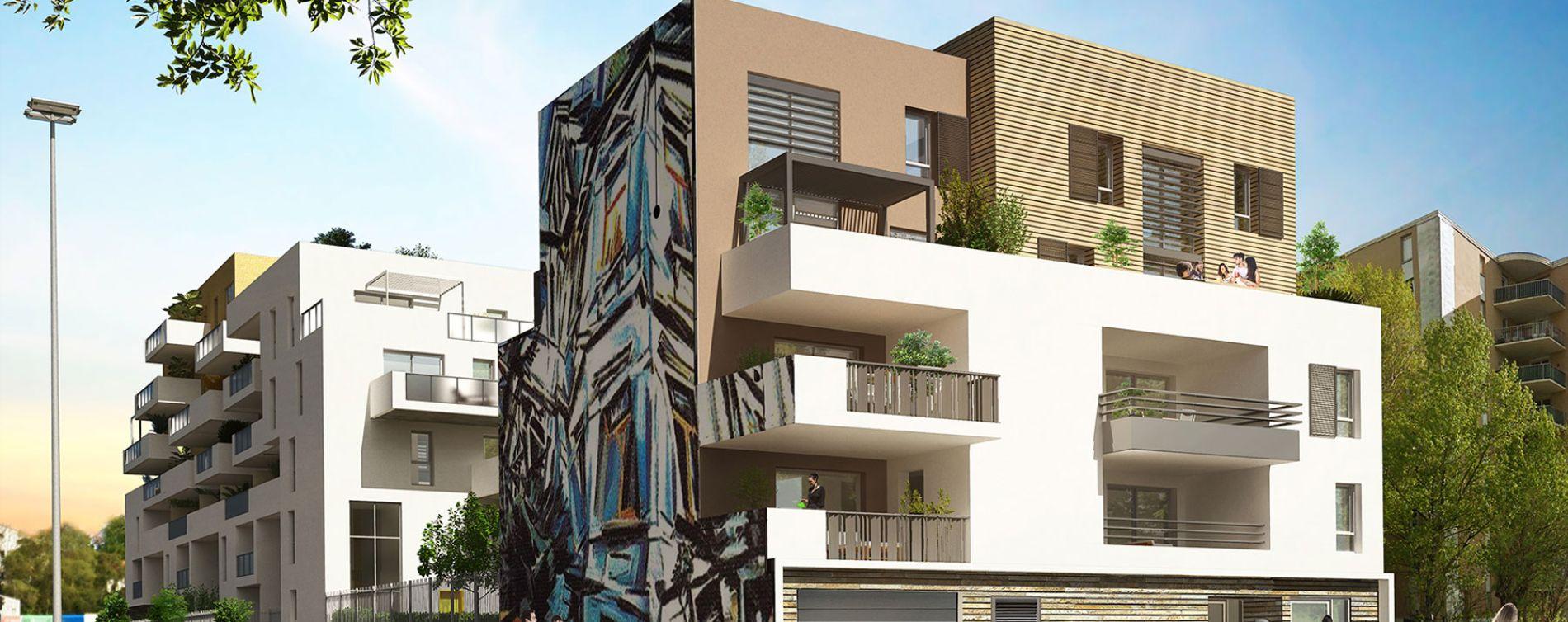 Montpellier : programme immobilier neuve « Urban Essence - Bât. D » en Loi Pinel