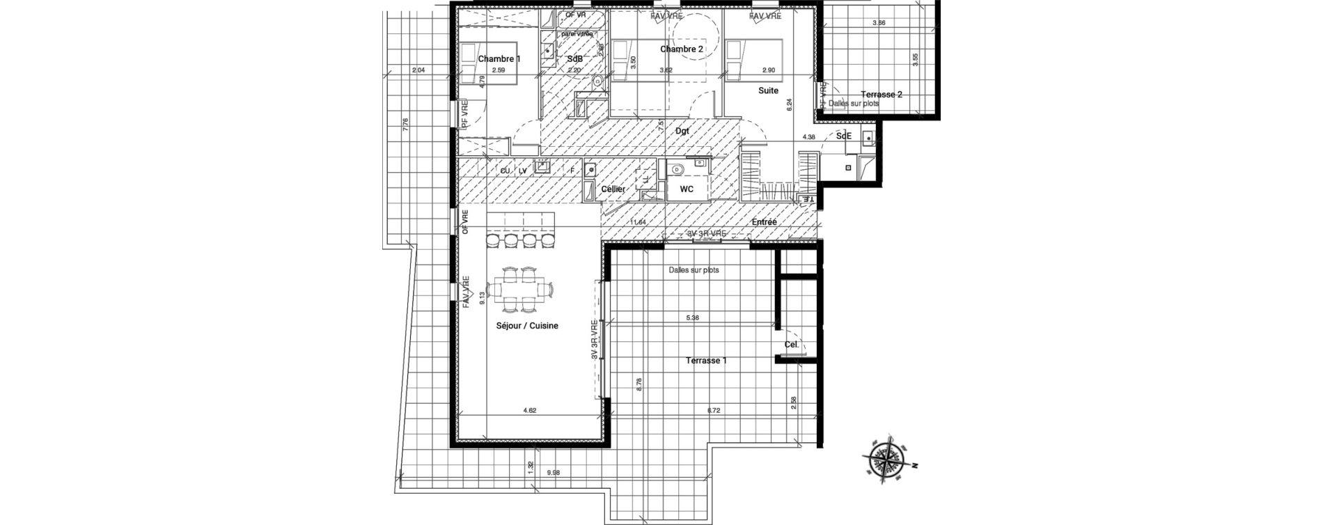 Appartement T4 de 115,47 m2 à Pignan Centre