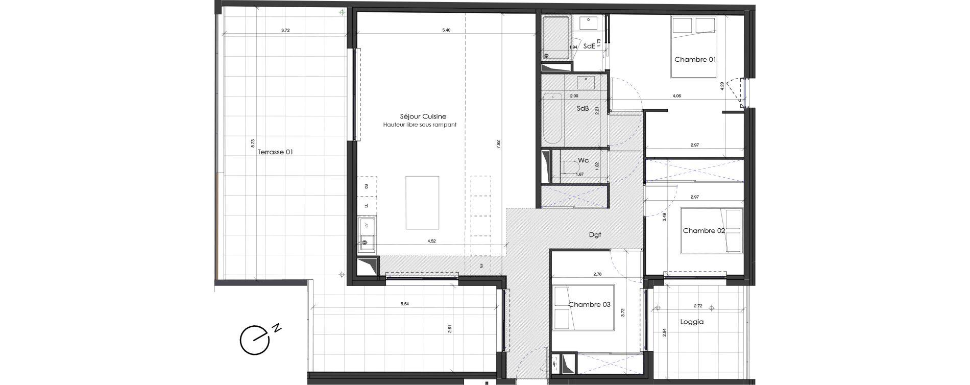 Appartement T4 de 100,18 m2 à Saint-Jean-De-Védas Roque fraisse