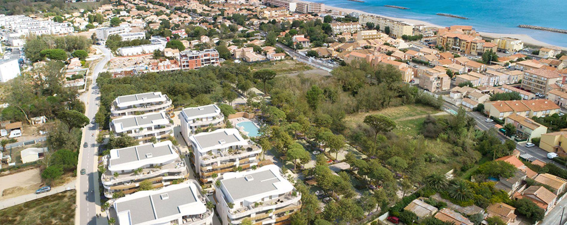 Sérignan : programme immobilier neuve « Le Parc des Cyclades - Tr 2 » en Loi Pinel (5)