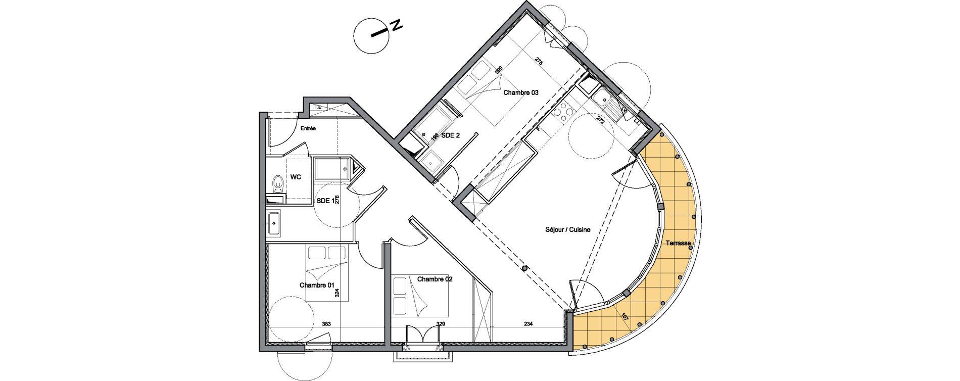 Appartement T4 de 93,50 m2 à Vendargues Centre