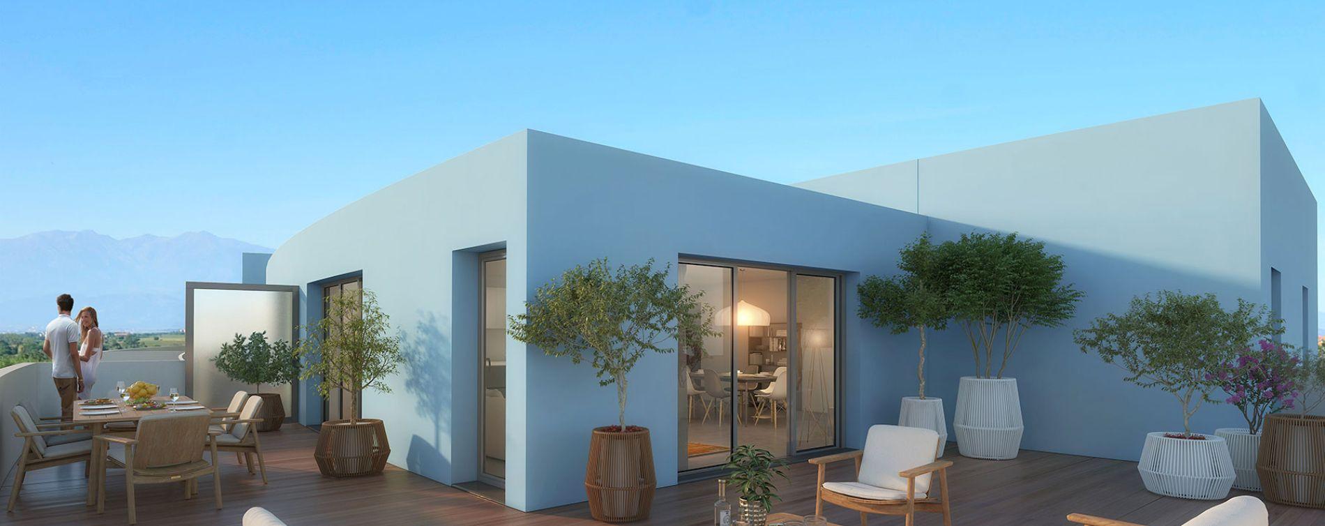 Canet-en-Roussillon : programme immobilier neuve « Bleu Odyssée Bât A » en Loi Pinel (3)