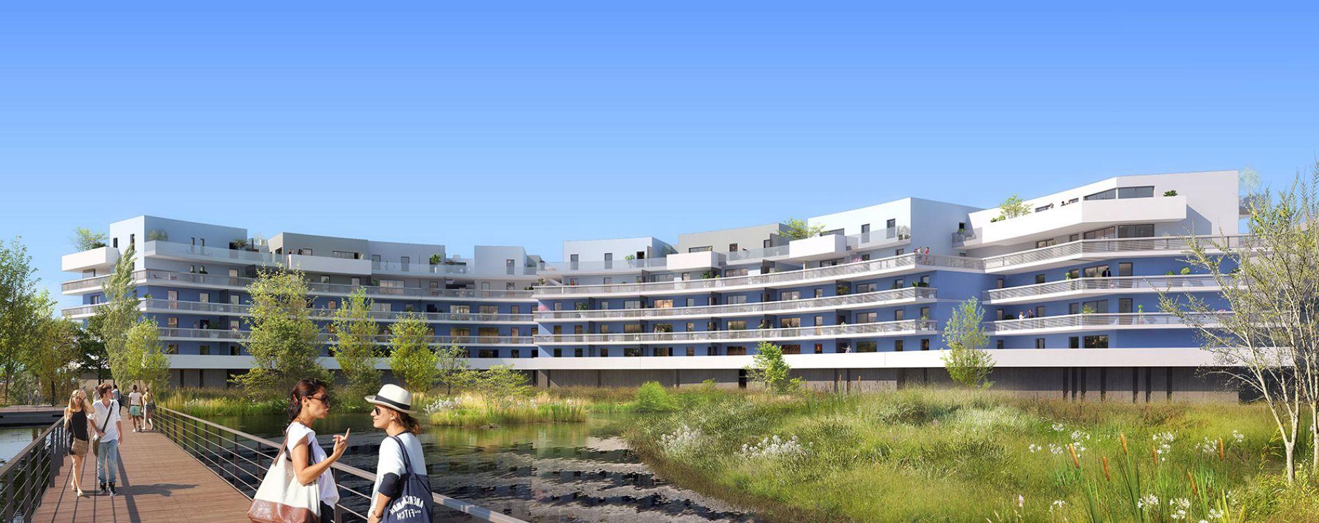 Canet-en-Roussillon : programme immobilier neuve « Bleu Odyssée Bât A » en Loi Pinel (4)