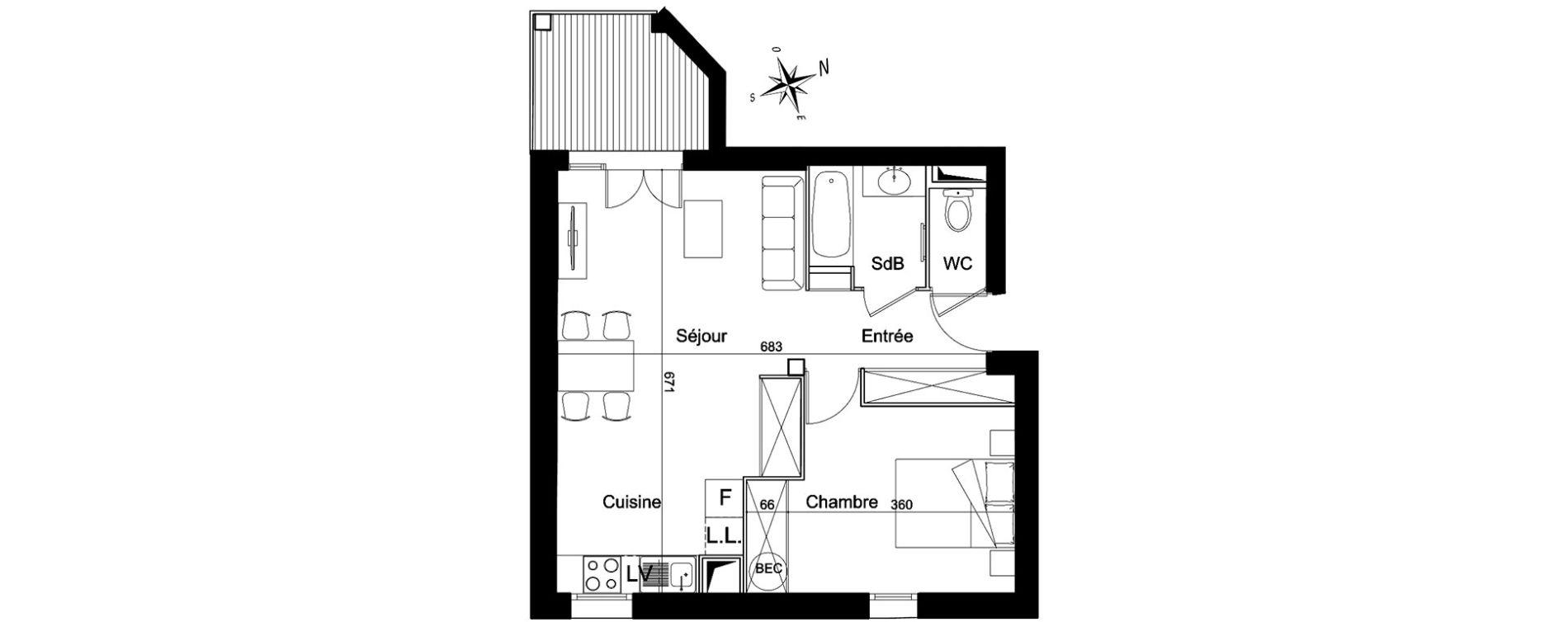 Plan T2 neuf à Eyne de