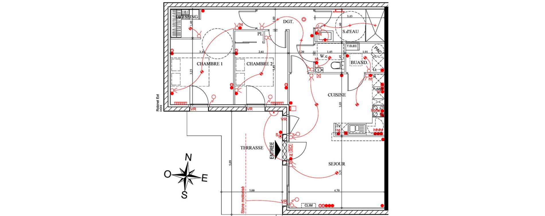 Plan T3 neuf à Pollestres de