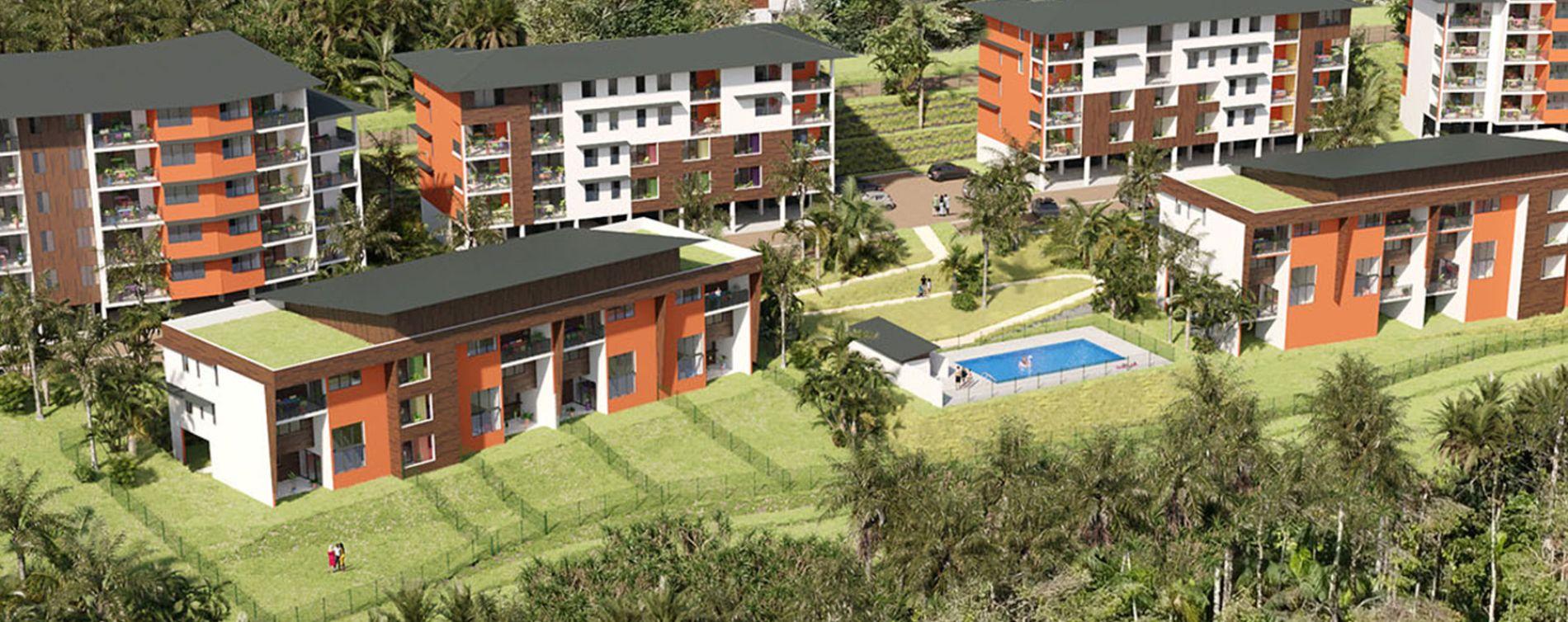 Remire-Montjoly : programme immobilier neuve « Ebène Rose 2022 » en Loi Pinel
