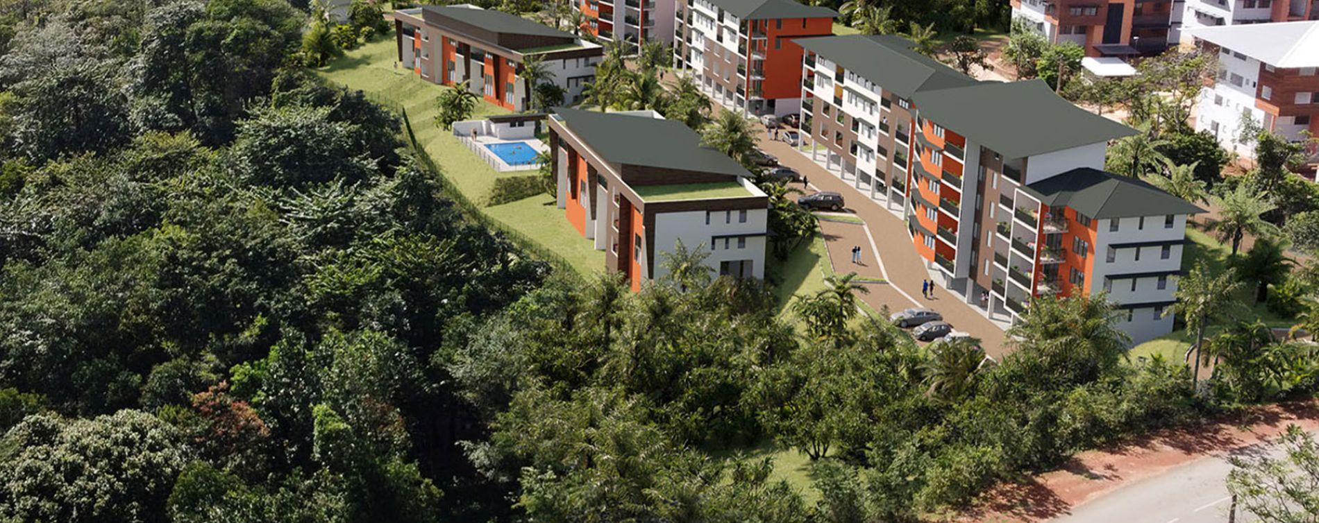 Remire-Montjoly : programme immobilier neuve « Ebène Rose 2023 » en Loi Pinel