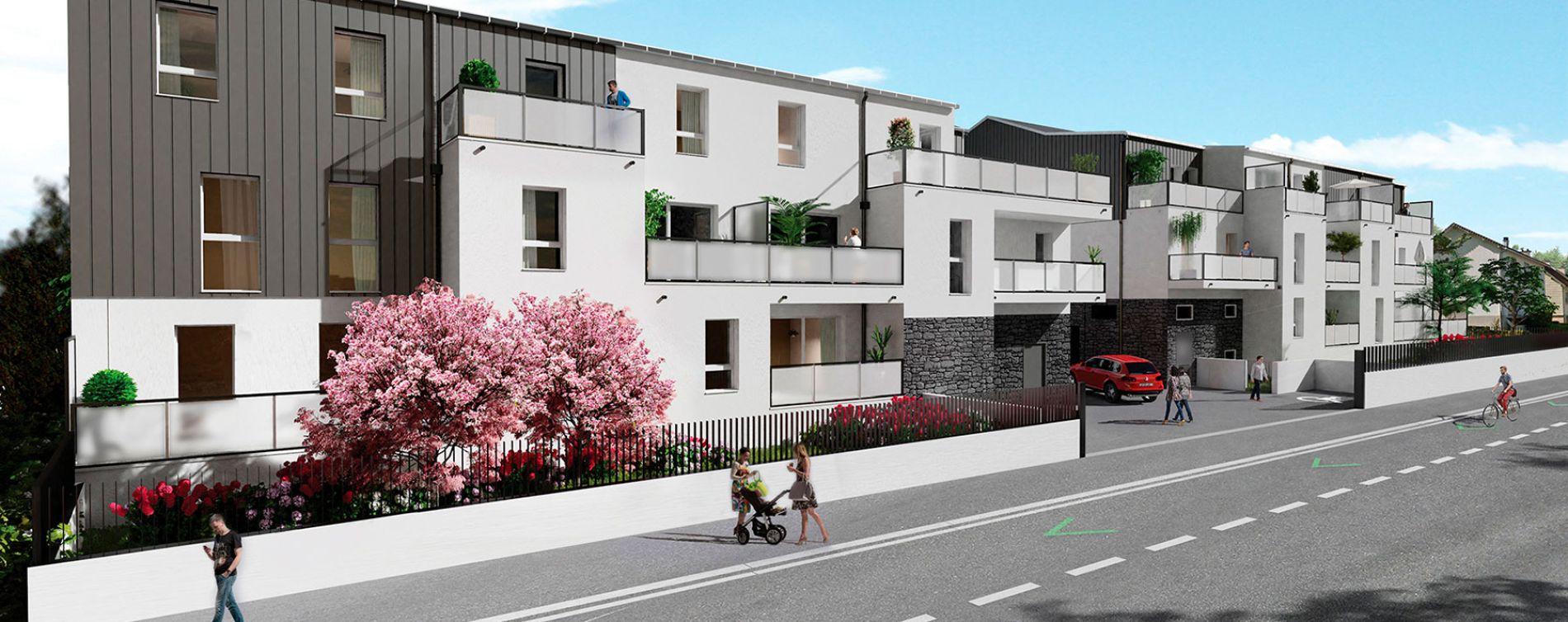 Carquefou : programme immobilier neuve « Le Domaine du Castel » en Loi Pinel