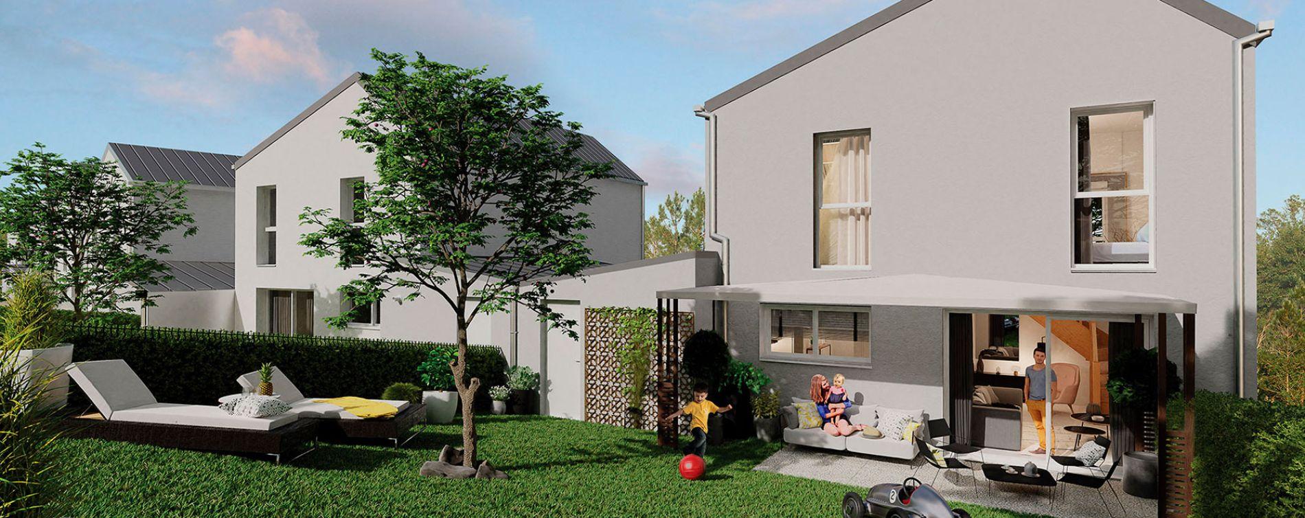 Carquefou : programme immobilier neuve « Le Domaine du Castel » en Loi Pinel (2)