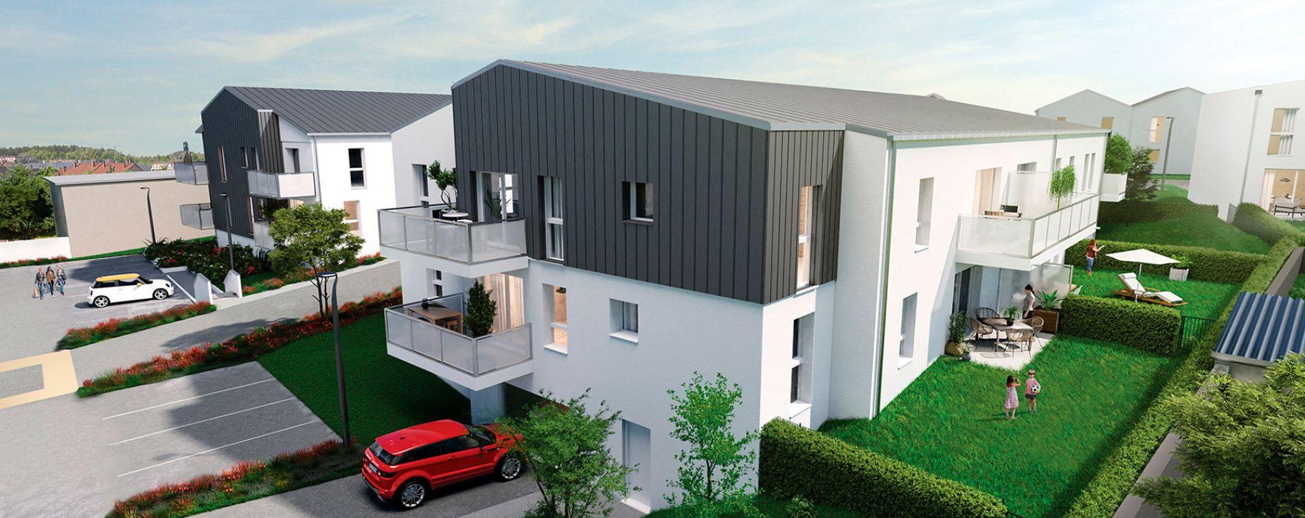 Carquefou : programme immobilier neuve « Le Domaine du Castel » en Loi Pinel (3)
