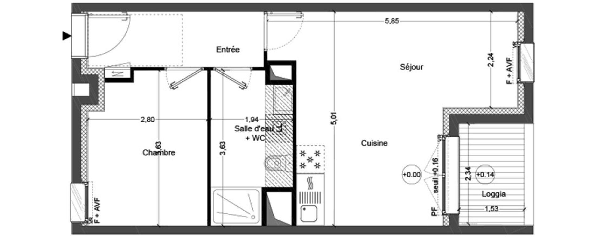 Plan T2 neuf à Couëron de