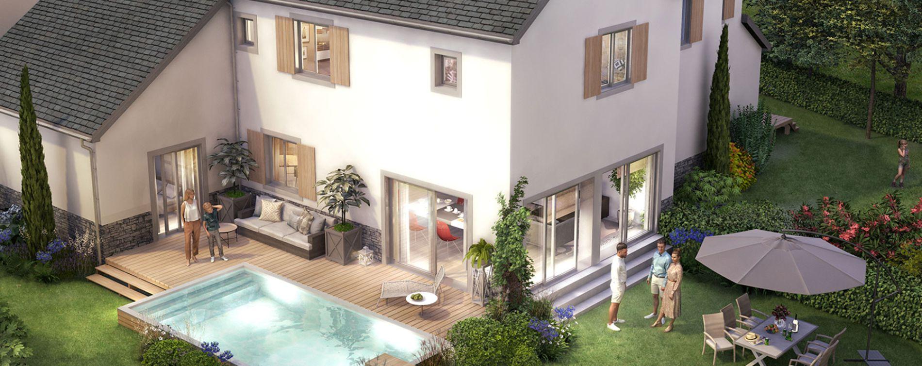 La Baule-Escoublac : programme immobilier neuve « Les Villas des Dunes » (2)