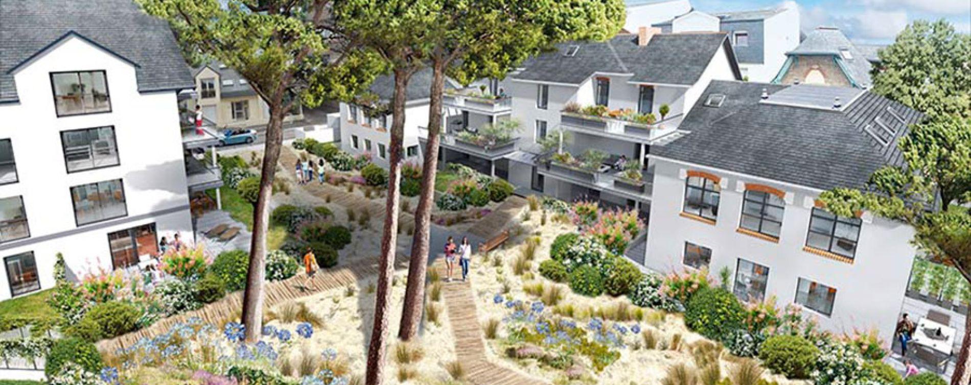 La Baule-Escoublac : programme immobilier neuve « Villas Sophia » (2)
