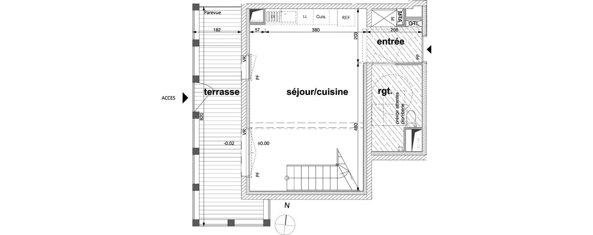 Appartement T3 de 63,00 m2 à Nantes Nantes république