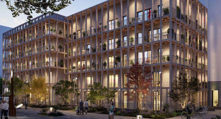 Nantes : programme immobilier neuf « Carré des Sens » en Loi Pinel