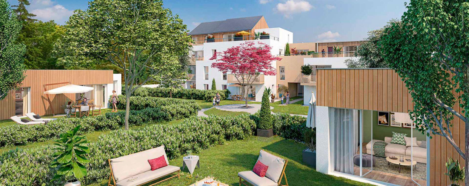 Nantes : programme immobilier neuve « Cosy Garden » en Loi Pinel