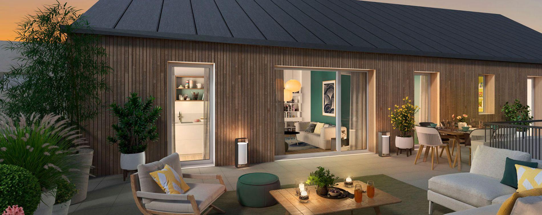 Nantes : programme immobilier neuve « Cosy Garden » en Loi Pinel (3)