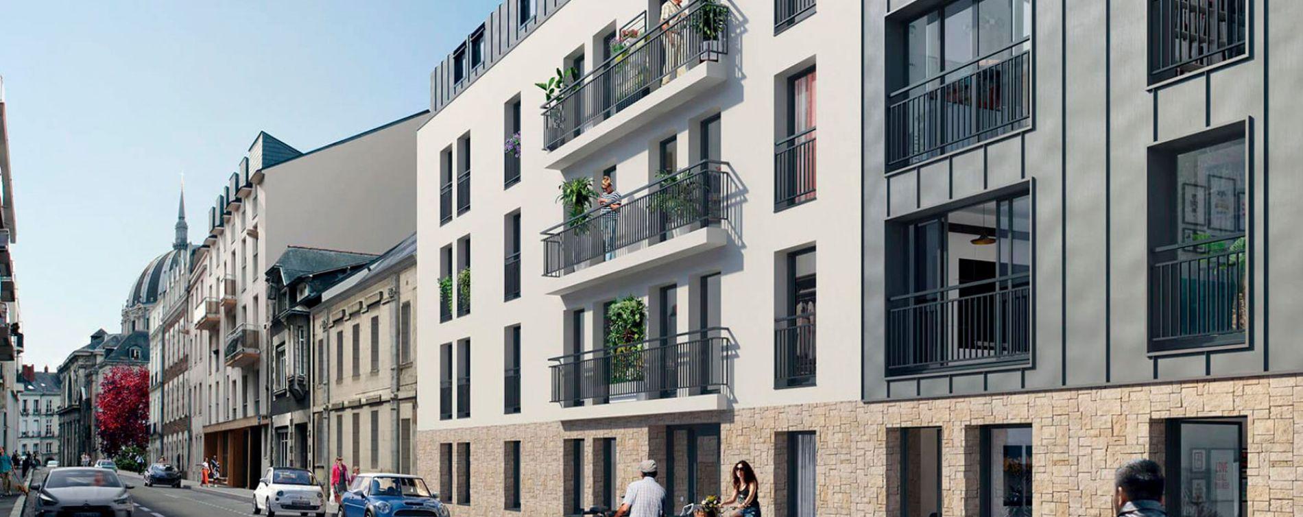 Nantes : programme immobilier neuve « Le Pavillon Saint Louis » en Loi Pinel