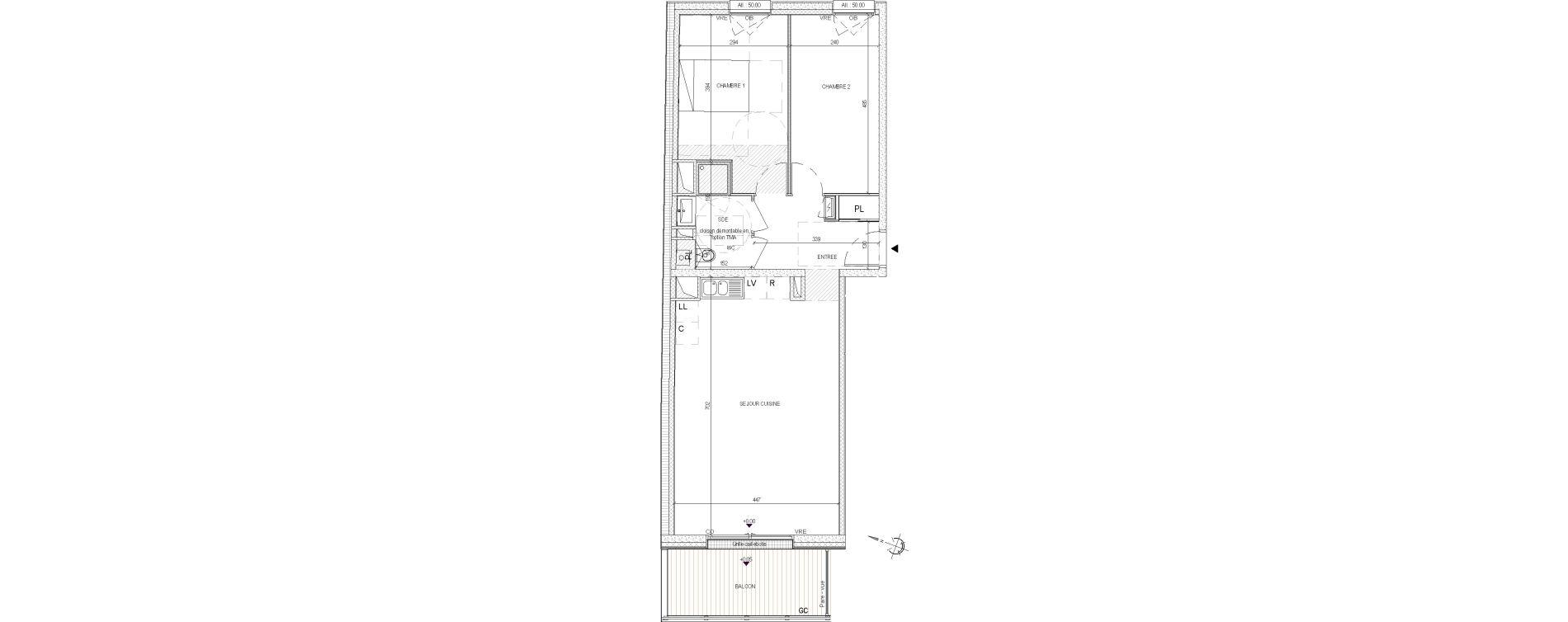 Appartement T3 de 66,20 m2 à Nantes Nantes centre