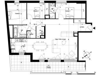 appartement t4 nantes n 936 sud ouest programme neuf les belles lettres. Black Bedroom Furniture Sets. Home Design Ideas