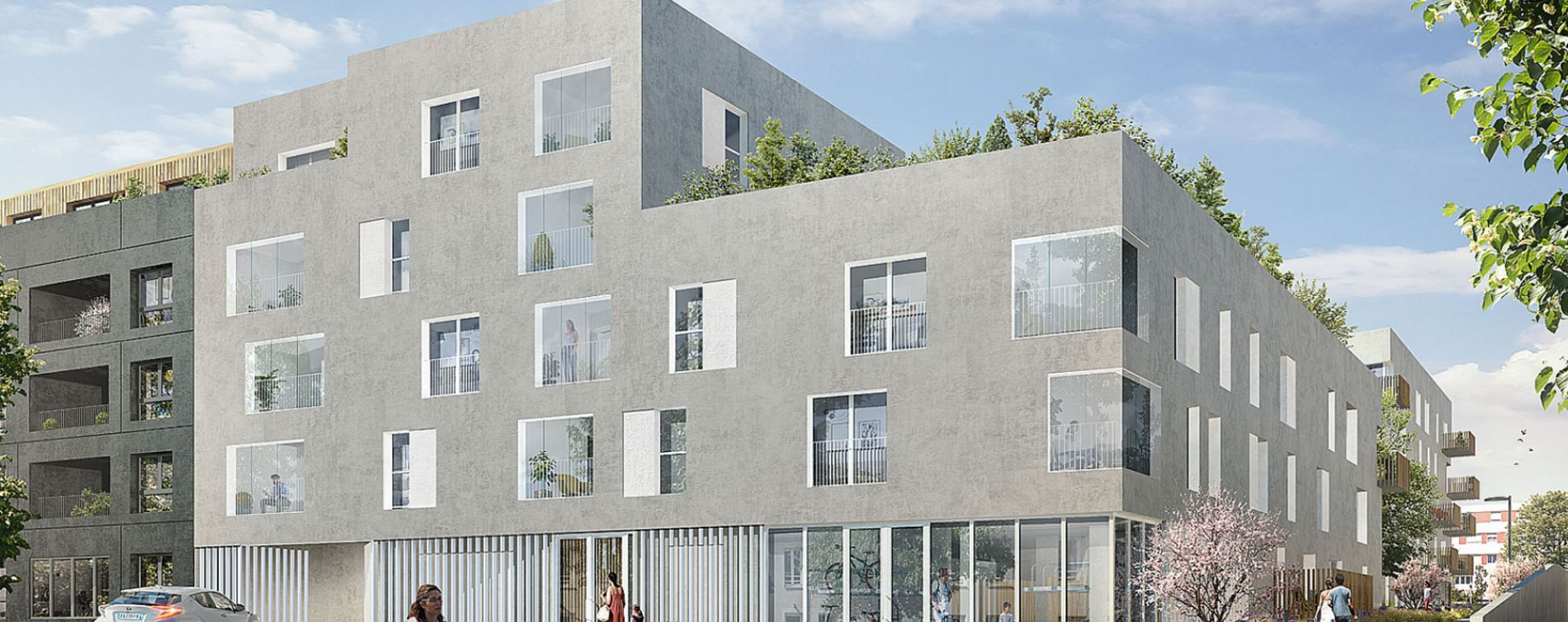 Nantes : programme immobilier neuve « Les Jardins d'Antoine » en Loi Pinel
