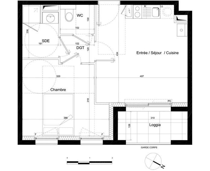 Appartement t2 nantes n 241 nord est programme for Achat maison nantes