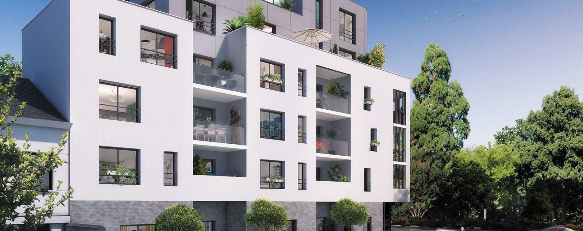 Nantes : programme immobilier neuve « L'Exeption - Nue-Propriété » en Nue Propriété (2)