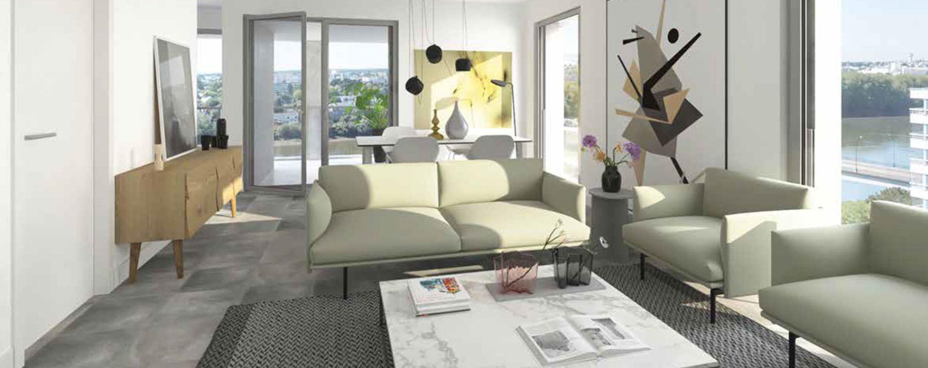Nantes : programme immobilier neuve « Loire en Scène » (3)