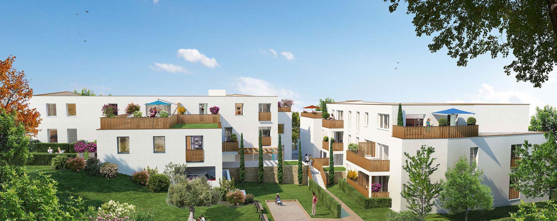 Saint-Herblain : programme immobilier neuve « Carré de Flore » en Loi Pinel (2)