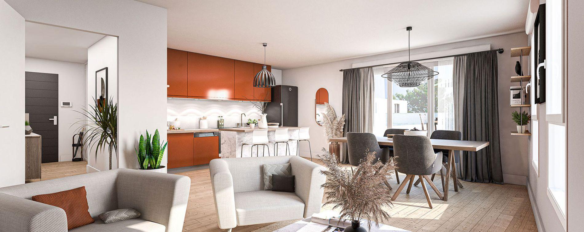 Saint-Herblain : programme immobilier neuve « Les Jardins d'Aby » en Loi Pinel (2)