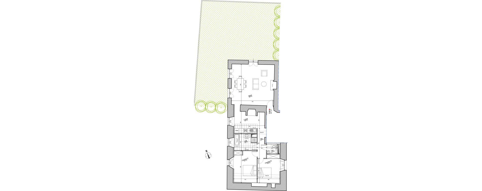 Appartement T3 de 80,71 m2 à Saint-Herblain Centre