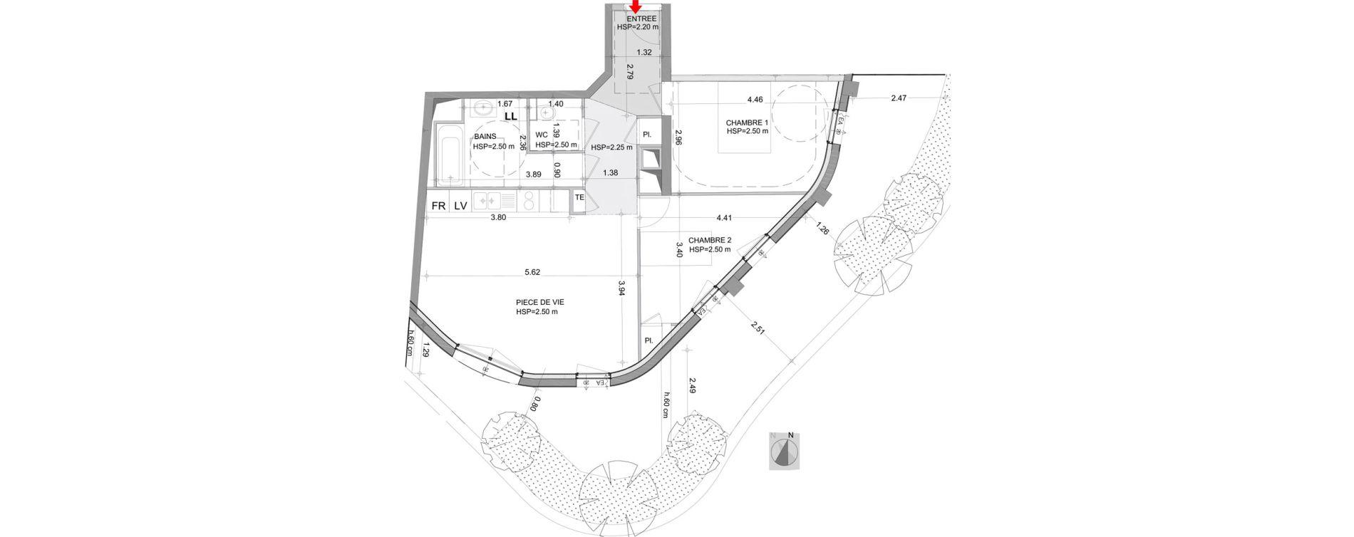 Appartement T3 de 63,58 m2 à Angers Angers centre