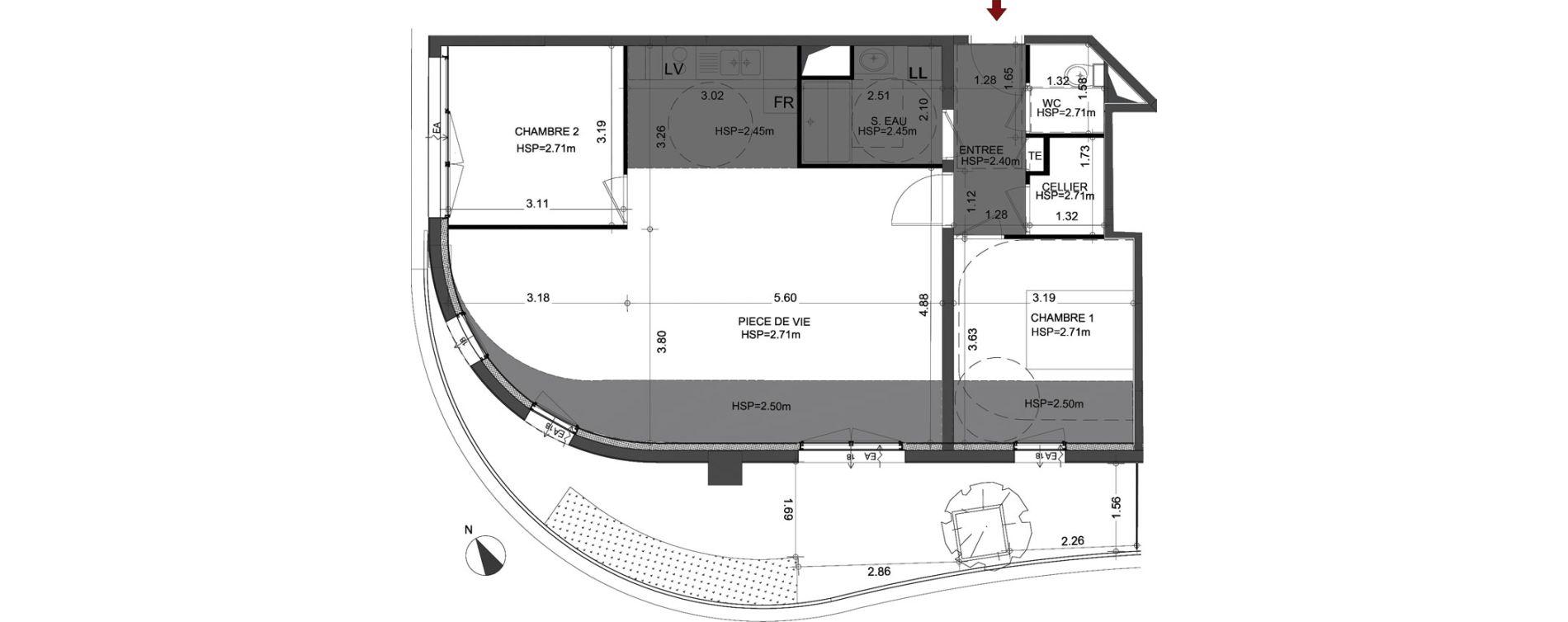 Appartement T3 de 77,61 m2 à Angers Angers centre