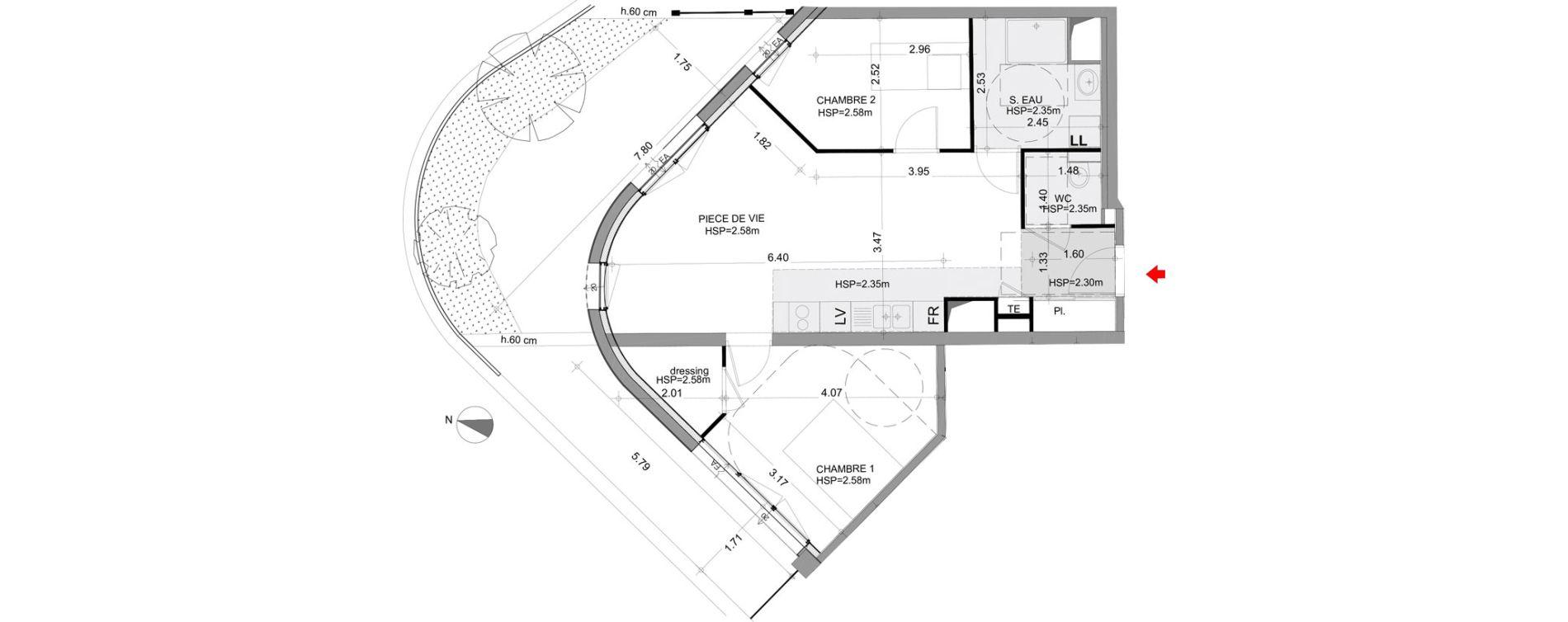 Appartement T3 de 61,75 m2 à Angers Angers centre