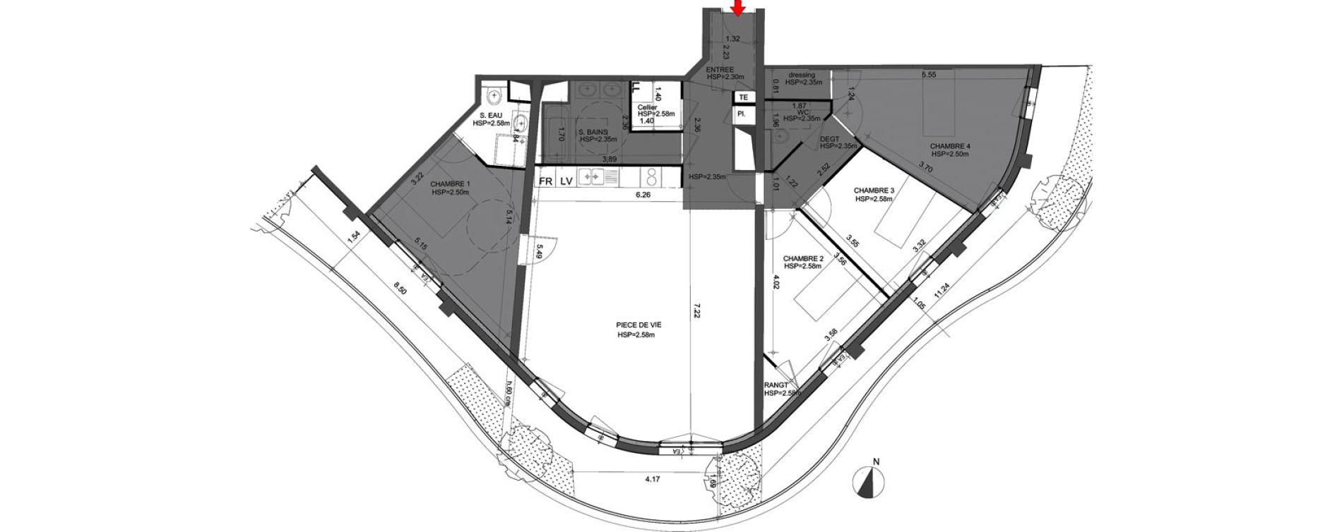 Appartement T5 de 125,60 m2 à Angers Angers centre