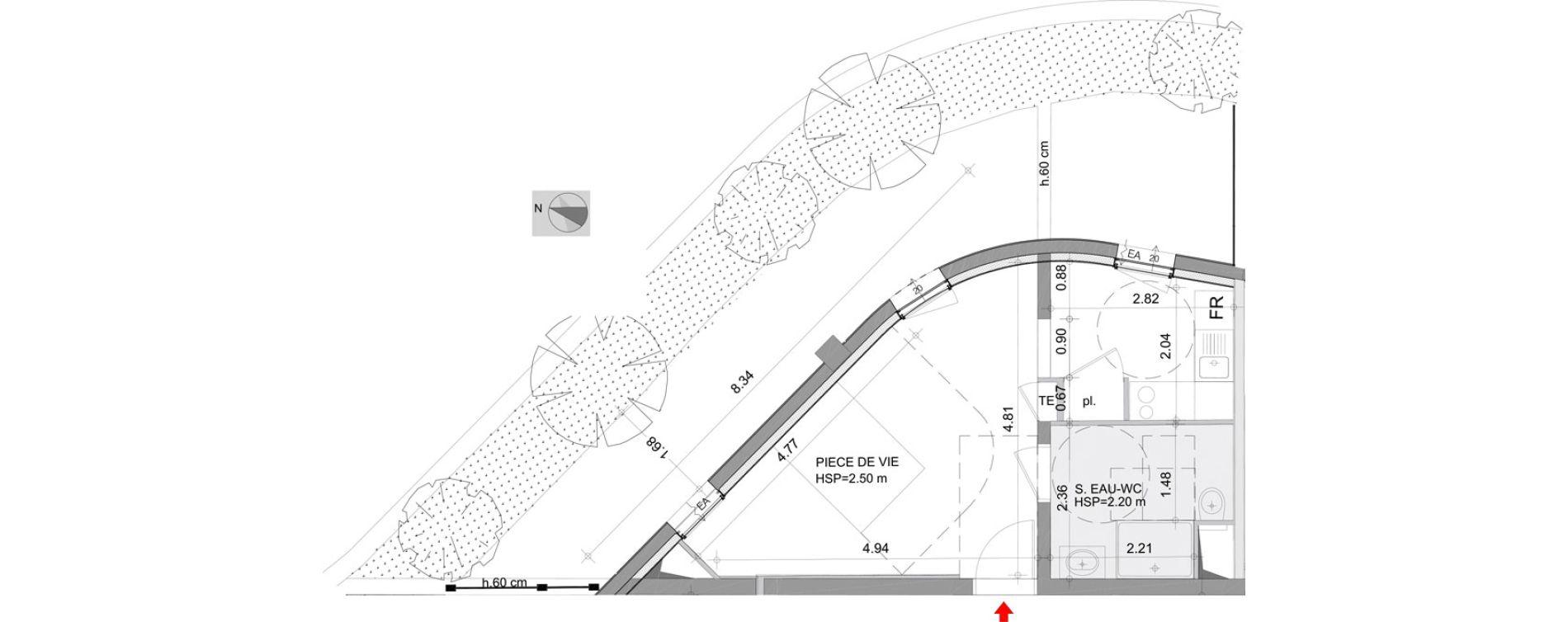 Appartement T1 de 29,58 m2 à Angers Angers centre