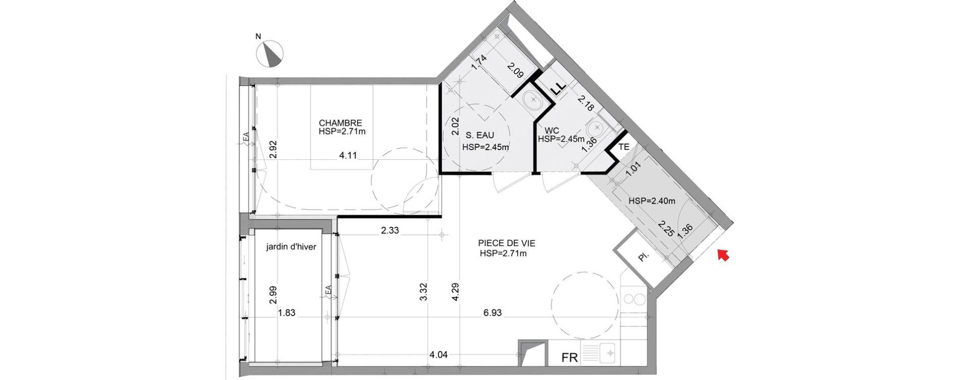 Appartement T2 de 50,80 m2 à Angers Angers centre