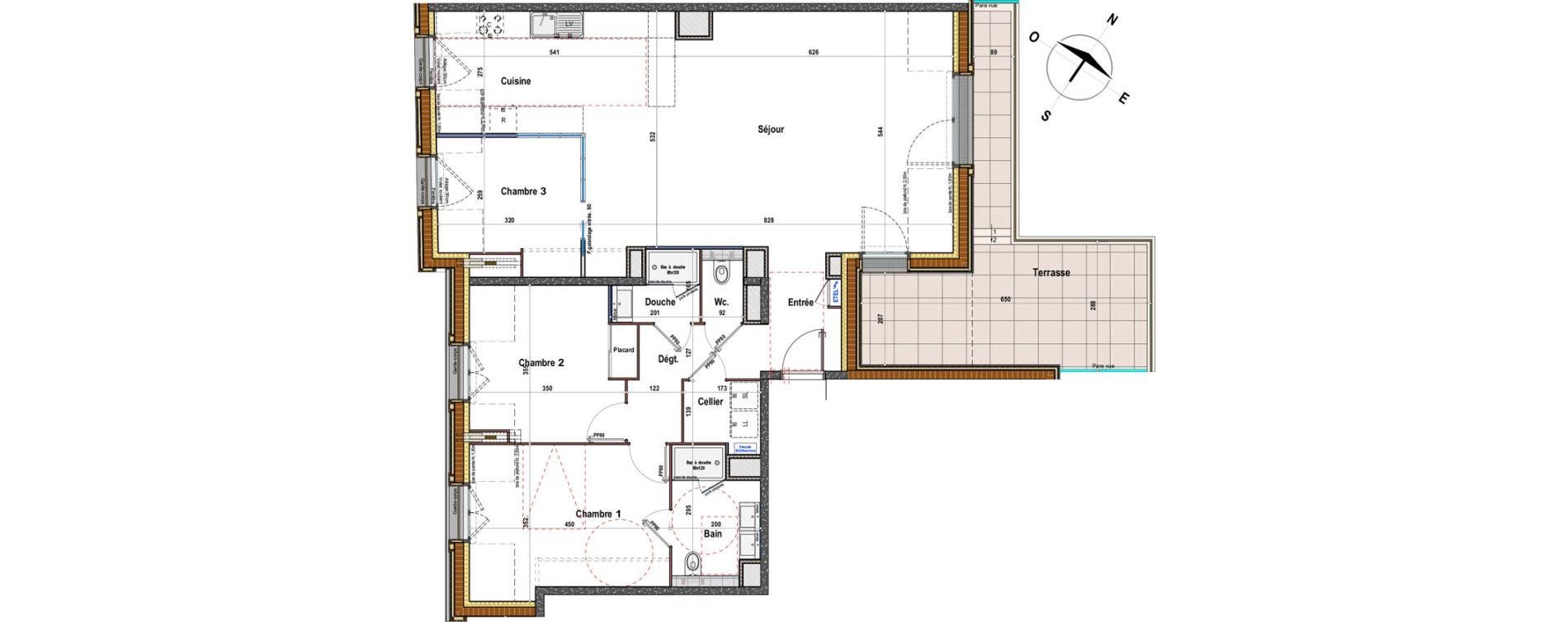 Appartement T4 de 111,55 m2 à Angers St-jacques-nazareth
