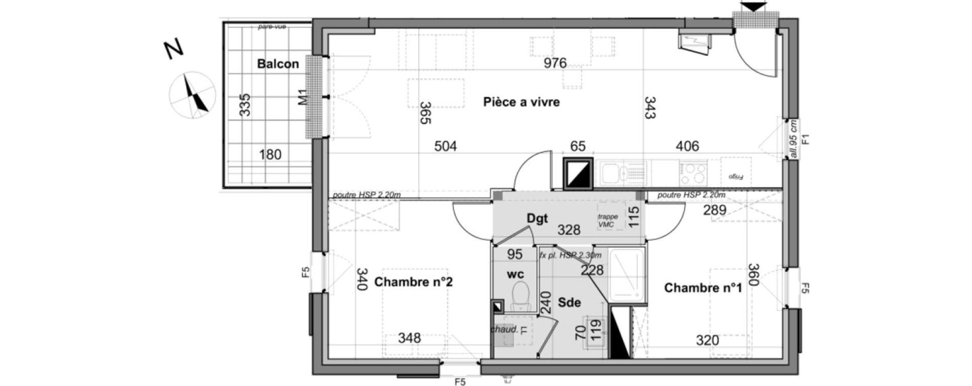 Appartement T3 de 66,17 m2 à Angers Angers madeleine